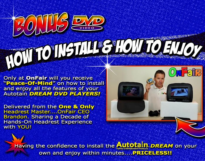autotain dream how to install dvd headrest monitor