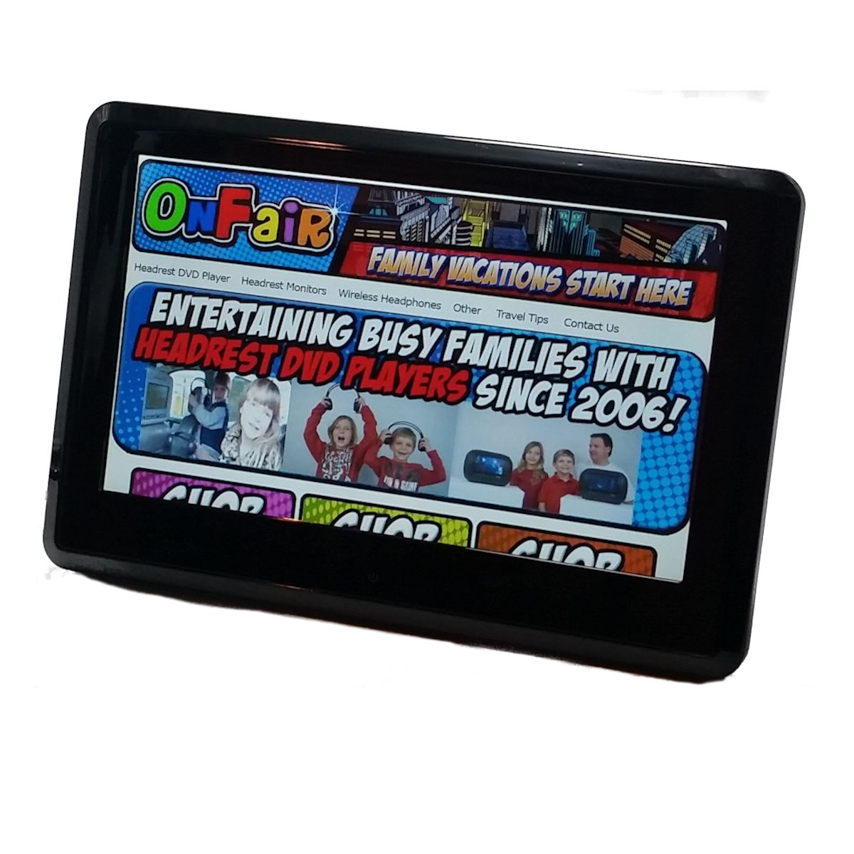 autotain edge active headrest DVD player monitor 10 inch touch screen