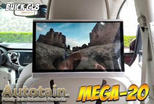 """Autotain Mega-20 12.5"""" Headrest Monitors with Android 9.0 in Buick GL8"""